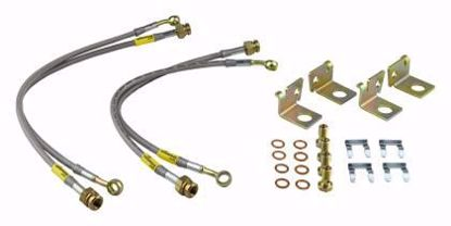 Picture of GOODRIDGE C6 STAINLESS BRAKE LINES (FRONT & REAR)