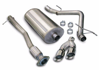 Picture of Corsa Exhaust Cat-Back For 2007-2008 GMC Sierra 1500 Extended Cab/Standard Bed 4.8L V8