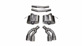 Picture of Corsa Exhaust Axle-Back For 2016-2017 Cadillac CTS V Sedan 6.2L V8