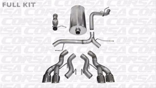 Picture of Corsa Exhaust Cat-Back For 2012-2014 Cadillac Escalade DUB  6.2L V8