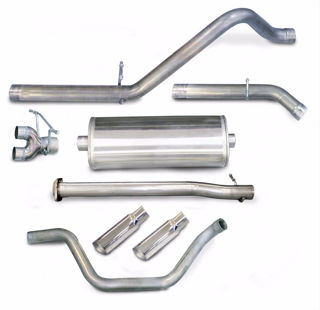 Picture of Corsa Exhaust Cat-Back For 2007-2008 GMC Sierra 1500 Regular Cab/Long Bed 4.8L V8