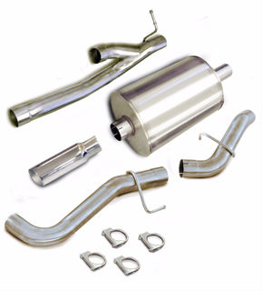 Picture of Corsa Exhaust Cat-Back For 2005-2006 GMC Sierra 1500 Extended Cab/Standard Bed 6.0L V8