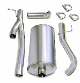 Picture of Corsa Exhaust Cat-Back For 2003-2006 GMC Sierra 2500 Extended Cab/Standard Bed 6.0L V8