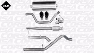 Picture of Corsa Exhaust Cat-Back For 2009-2013 GMC Sierra 1500 Regular Cab/Standard Bed 4.8L V8