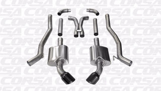 Picture of Corsa Exhaust Cat-Back + X-Pipe For 2010-2015 Chevrolet Camaro SS Coupe 6.2L V8