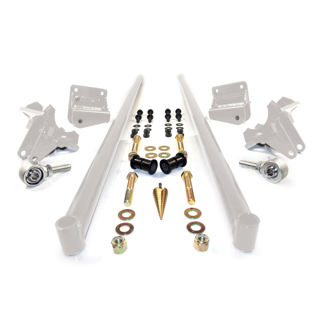 Picture of 2011-2016 Chevrolet / GMC 58 Inch Bolt On Traction Bars 4 Inch Axle Diameter White HSP Diesel