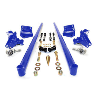 Picture of 2011-2016 Chevrolet / GMC 58 Inch Bolt On Traction Bars 4 Inch Axle Diameter Candy Blue HSP Diesel