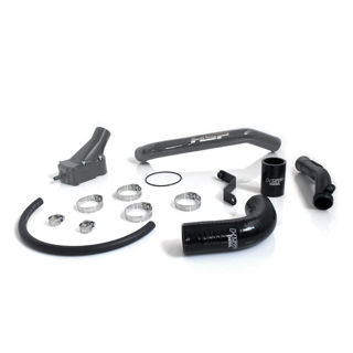 Picture of 2006-2010 Chevrolet / GMC Billet Thermostat Housing Kit W/ Coolant return Dark Grey HSP Diesel