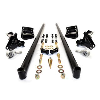 Picture of 2001-2010 Chevrolet / GMC 75 Inch Bolt On Traction Bars 3.5 Inch Axle Diameter Gloss Black HSP Diesel