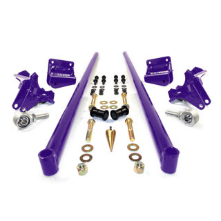 Picture of 2001-2010 Chevrolet / GMC 75 Inch Bolt On Traction Bars 3.5 Inch Axle Diameter Candy Purple HSP Diesel
