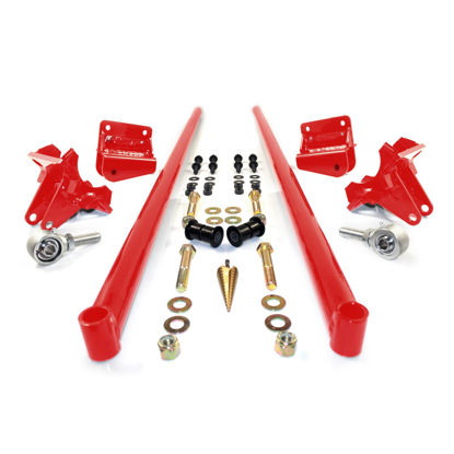 Picture of 2001-2010 Chevrolet / GMC 70 Inch Bolt On Traction Bars 3.5 Inch Axle Diameter Blood Red HSP Diesel