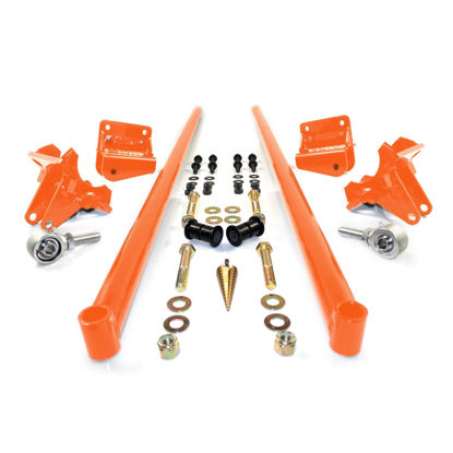 Picture of 2001-2010 Chevrolet / GMC 58 Inch Bolt On Traction Bars 3.5 Inch Axle Diameter Orange HSP Diesel