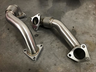 Picture of 2001-2016 Chevrolet / GMC 2 Inch Replacement Up-Pipes Raw HSP Diesel