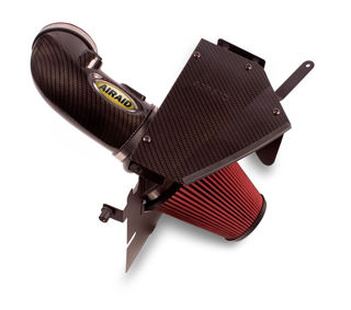 Picture of Airaid 09-14 Cadillac CTS-V 6.2L/11-14 Coupe CAD Intake System w/Carbon Look (Oiled / Red Media)
