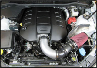 Picture of  Airaid 08-09 Pontiac G8 6.0L/6.2L Cold Air Dam Intake System (Dry / Red Media)
